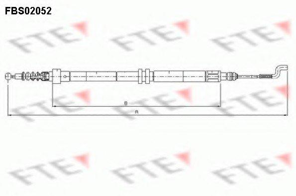 Трос ручника FTE FBS02052