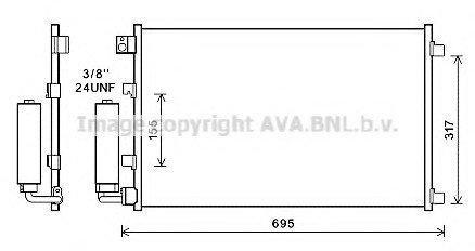 Радиатор кондиционера AVA DNA 5281