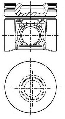 Поршень FIAT 95,00 2.8TD Euro 2 98- трапециевидный шатун (пр-во Nural)