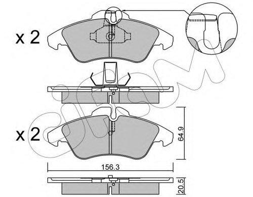 Колодка торм. MB SPRINTER 2-t, VW LT 28-35 передн. (пр-во Cifam)