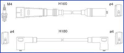 HITACHI VW К-кт высоковольтных проводов Golf,Passat,Caddy,Seat HITACHI