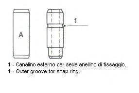 Направляющая клапана DAEWOO Lanos 1,5 8V 7mm(пр-во Metelli)
