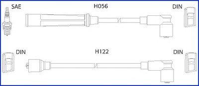 HITACHI VW К-кт высоковольтных проводов Golf I,Passat,Derby HITACHI 13