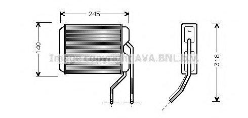 Радиатор отопителя DAEWOO NEXIA (пр-во AVA)