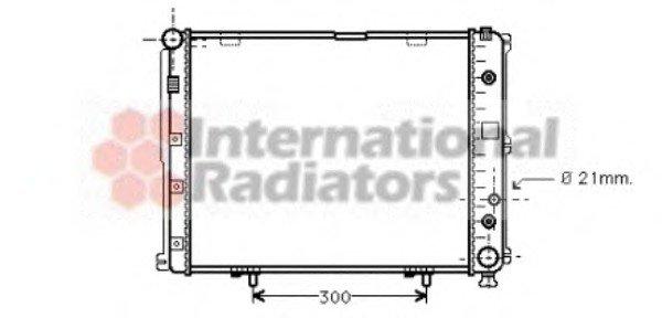 Радиатор охлаждения MERCEDES E-CLASS W 124 (84-) E 220 (пр-во Van Weze