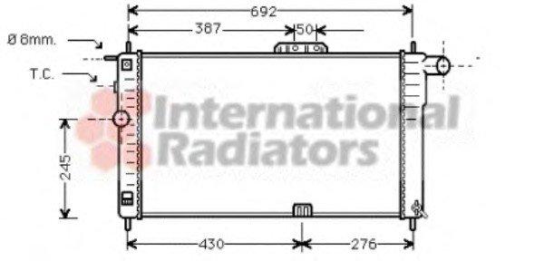 Радиатор охлождения DAEWOO NEXIA 15 MT - AC 94- (Van Wezel)