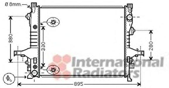 Радиатор охлаждения VOLVO XC 90 I (02-) (пр-во Van Wezel)