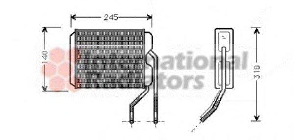 Радиатор отопителя DAEWOO NEXIA (пр-во Van Wezel)