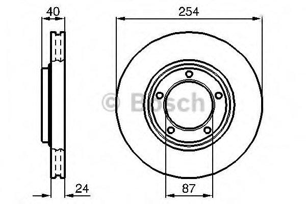 Гальмівний диск HYUNDAI H-1 F Bosch 0986478663